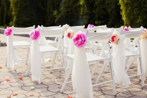 Decorations wedding, stylish marriage ceremony, bridal day decorations, luxury, soft focus selective